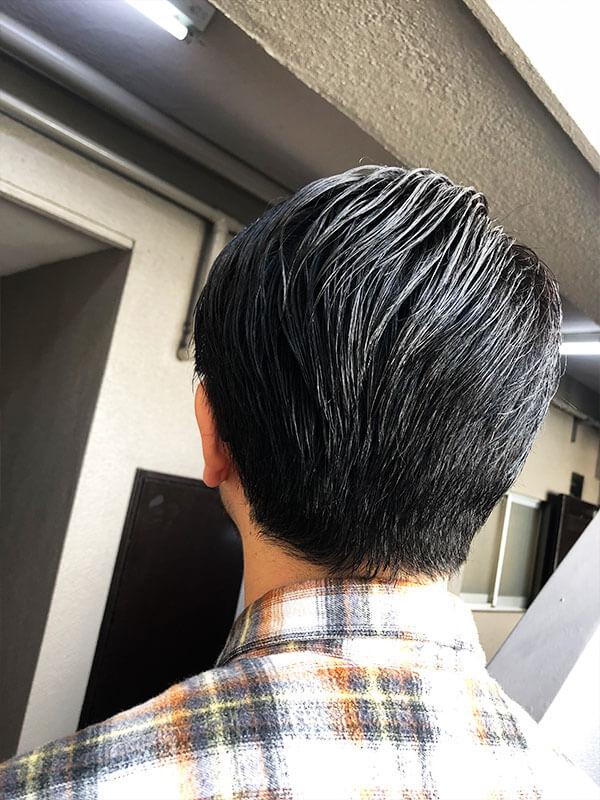 天神メンズ専門美容室ShoyaTsuda 刈り上げないオールバックスタイルその4