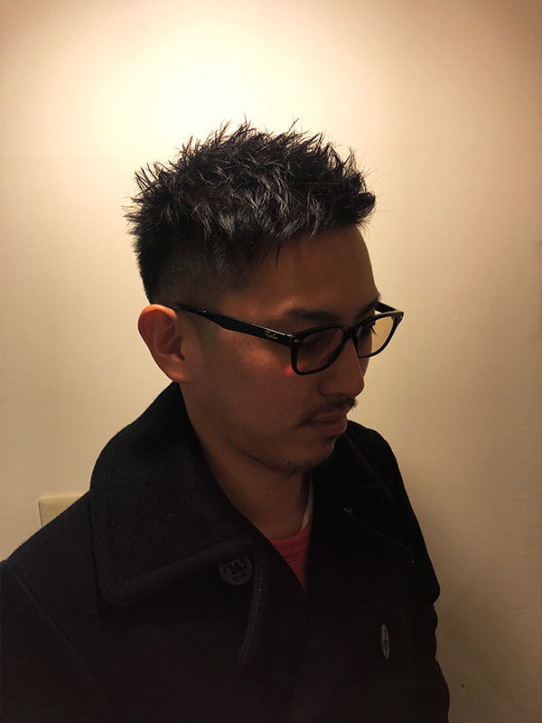 天神メンズ専門美容室ShoyaTsuda フェードショートスタイルその2