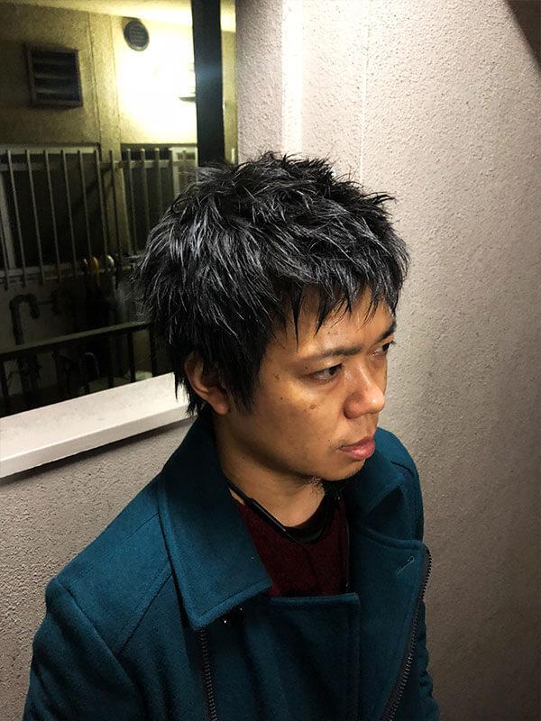 天神メンズ専門美容室ShoyaTsuda パンクショートその1